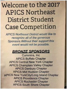 APICS Providence sponsors student case competition for Northeast District